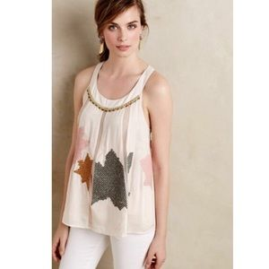 Anthropologie Floreat pia embroidered tank